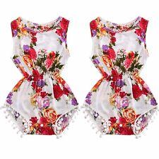Summer Baby Girl Kids Floral Romper Bodysuit Jumpsuit Outfits Sunsuit Clothes AU