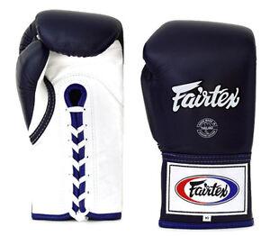 Fairtex BGL6 Fairtex Pro Fight Gloves Blue White Competition boxing gloves