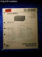 Sony Service Manual TA H5900 Amplifier (#1459)
