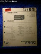 Sony Service Manual TA H5900 Amplifier (#1459)