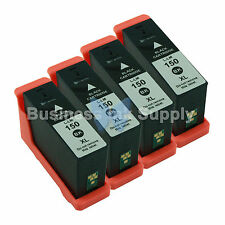 4 BLACK 150XL New High Yield Compatible Ink Cartridge for LEXMARK 150XL 14N1614