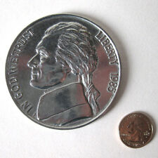 New Jumbo Giant Metal Production Magic Five Cent Coin Trick Us Nickel