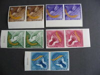 TOGO construction Sc 538-42 set in MNH imperf pairs very nice check them out!