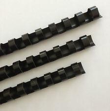 "7/16"" Plastic Binding Combs - ""BLACK"" - Set of 25"