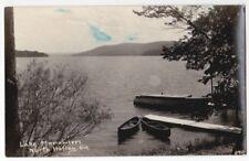Lake Massawippi North Hatley Quebec Real Photo RPPC AZO