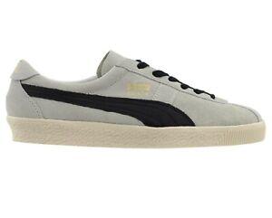 Puma Crack Heritage White Black Suede 365886 02 Mens Casual Sneakers