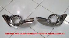 TOYOTA SIENTA 2016-17 CHROME FOG LAMP COVER SET OF 2 PC LH + RH