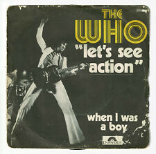 """The WHO Vinyle 45T 7"""" LET'S SEE ACTION - WHEN I WAS A BOY - POLYDOR 2058168 RARE"""
