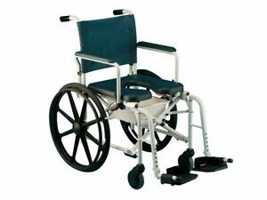 """Invacare Mariner Rehab Mobile Shower Chair 6895 w/Commode Opening 18"""" Seat"""