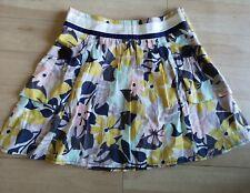 Ladies RIVER ISLAND Skirt Size 10 Short Mini Floral Cotton