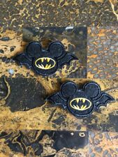 """2 Bat Mickey Mouse Halloween Iron On Sew On Patch 1.75""""L x 3.5""""W Same Day Ship"""