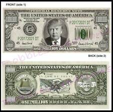 8 Lot-Donald Trump 45th President 2017 U.S. Paper Campaign Fake Money Art Dollar