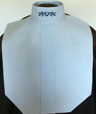 English Hunt Seat Ratcatcher Pale Blue Show Bib Dickie With Collar Embellishment
