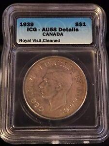 1939 Canadian $1 Coin ICG - AU58 (C359)