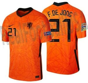 NIKE FRENKIE DE JONG NETHERLANDS NATIONS LEAGUE HOME JERSEY 2020 2021