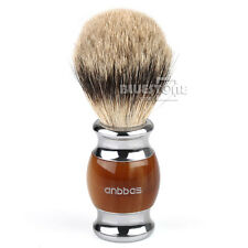 Luxury Best Shaving Brush Pure Silvertip Badger Hair Resin Kirsite Plated Handle