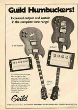 1974 Guild Guitar Humbucking Pick-Ups - Vintage Ad