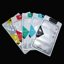 250x Front Clear Plastic Hang Hole Bag For Phone Case Shell Accessory Pack Pouch