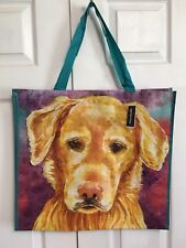 NEW Shopping Bag Golden Retriever Puppy Dog Reusable Travel Tote Marshalls NWT