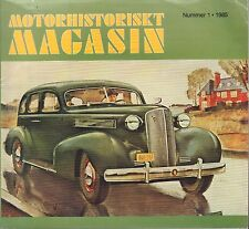 Motorhistoriskt Magasin Swedish Car Magazine #1 1985 Volvo 031617nonDBE