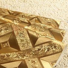 PVC foil gold wallpaper for bedroom living room wall paper roll home Decor