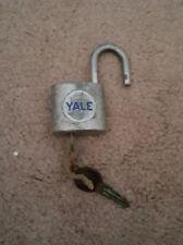 Vintage YALE  Pad Lock with Key