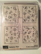 Stampin Up!~Retired~2004 Fabulous 4~Stamp Set of 4~Brand New in Box~Cute!