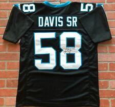 Thomas Davis Sr. autographed signed jersey NFL Carolina Panthers JSA w/ COA