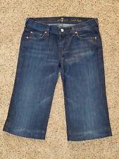 SEVEN FOR ALL MANKIND womens Crop Dojo Capri short jeans size- 29 - 32 x 16 - 7