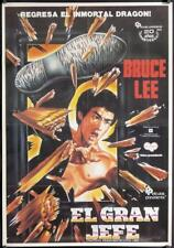 R860 FISTS OF FURY video Colombian movie poster R1988 Bruce Lee