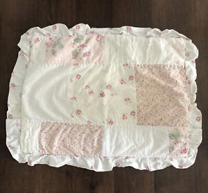 Simply Shabby Chic Pillow Case Sham Pink & White Floral Standard