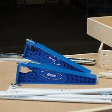 Drawer Slide Installation Jig Cabinet Wood Case Runner Reversible Drill Guide