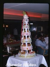 1965  kodachrome Photo slide    Carnival decorated cake abord ship
