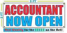 Accountant Now Open Banner Sign New Larger Size Best Quality for the $