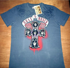 """GUNS AND ROSES - CROSS - SWAG LABEL MUSIC T SHIRT  42""""- 44"""" CHEST LABELLED AS XL"""