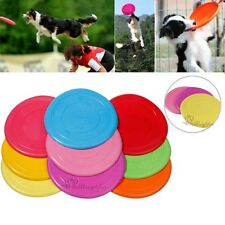 Big Pet Dog Training Soft Frisbee Flying Disc Frisby Fetch Silicone Color Toy