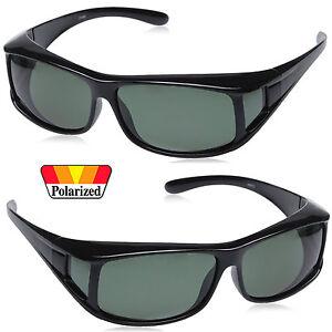 Fit Over Polarized Sunglasses Anit Glare Over Prescription Glasses Smoke Lens