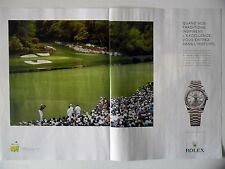 PUBLICITE-ADVERTISING :  ROLEX Oyster Perpetual Day-Date 40 AUGUSTA [2pages]2016