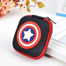 NEW Captain American Kids Boys Girls Rubber Coin Purse Wallet Headset Bag Gift