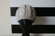 The North Face Unisex Beige Knit Hat Cap Wool Blend One Size