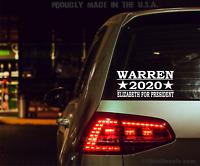 "Warren 2020 Elizabeth Warren Decal Sticker 3.0/"" x 6.0/"" #472"