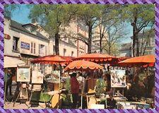 Carte Postale - Paris - Aspect du vieux Montmartre au fond le sacré coeur