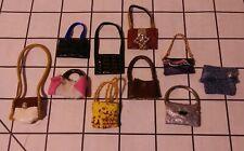 Dollhouse miniatures lot 10 Handbags Handmade