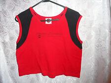 WOMAN'S RED AND BLACK HARLEY DAVIDSON SLEEVELESS SHIRT-SIZE XL