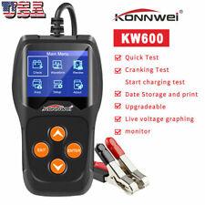 12V Car Battery Analyzer Load Tester KONNWEI KW600 Diagnosic Charge 2000CCA S3M9