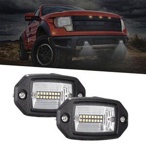 4 INCH 48W LED Light Bar Flush Mount Fog DRL Reverse Lamps Offroad Truck SUV 2x