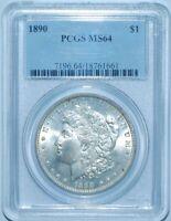 1890 P PCGS MS64 Morgan Silver Dollar