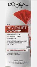 L'Oreal REVITALIFT CICACREM Anti-wrinkle + Extra-recovery Eye Cream