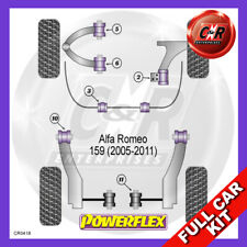 Alfa 159 05-07 Fr Low Arm Rr Bushes 46mm, Fr Up Adj Powerflex Full Kit