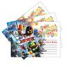 20 x Lego Ninja Go Birthday Party Invitations Invites Cool Cards Kids Boys Girls